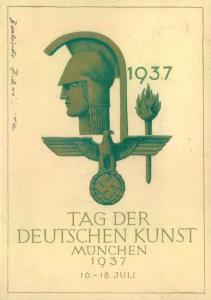 1937, Sonderkarte TAG DER DEUTSCHEN KUNST