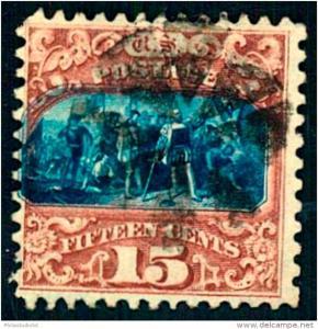 1869: 15 Cent Landing of Columbus (Scott 119 - $ 750)