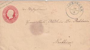 1859, 1 Groschen Ganzsachenumschlag mit K2 MOHRINGEN