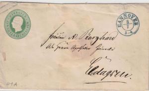 1857, 1 Guter Groschen Ganzsachenumschlag mit K2 HANNOVER (U 1 A)