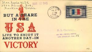 1941/1945, six patriotic covers during world war II