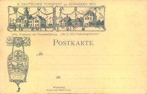 NÜRNBERG 1903, X. DEUTSCHES TURNFEST, 4 offitielle Postarketn (No. 1,2,3 und 5) - Erh. I-