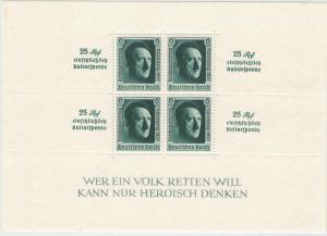 1937, Reichsparteitagsblock postfrisch. - Mi.-Nr. Block 11, 320,- günstig