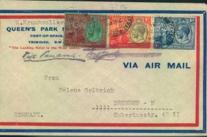 1931, airmail from PORT-OF-SPAIN via Panama to Bremen/Germany