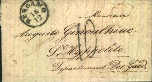 1857, folded letter from