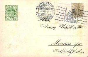 1908,Privatganzsache 3 Pfg. Germania