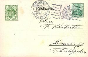1908,Privatganzsache 5 Pfg. Germania