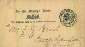 1896, card with imprinted