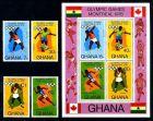E17436)Olympia 76, Ghana 646/9 A** + Bl 65 A**