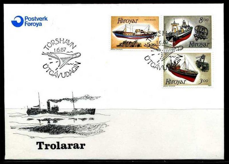 E02134)Färöer Inseln FDC 151/3
