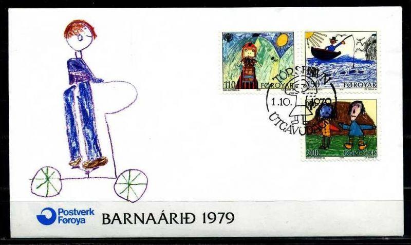 E06636)Färöer FDC 45/7 Kinder