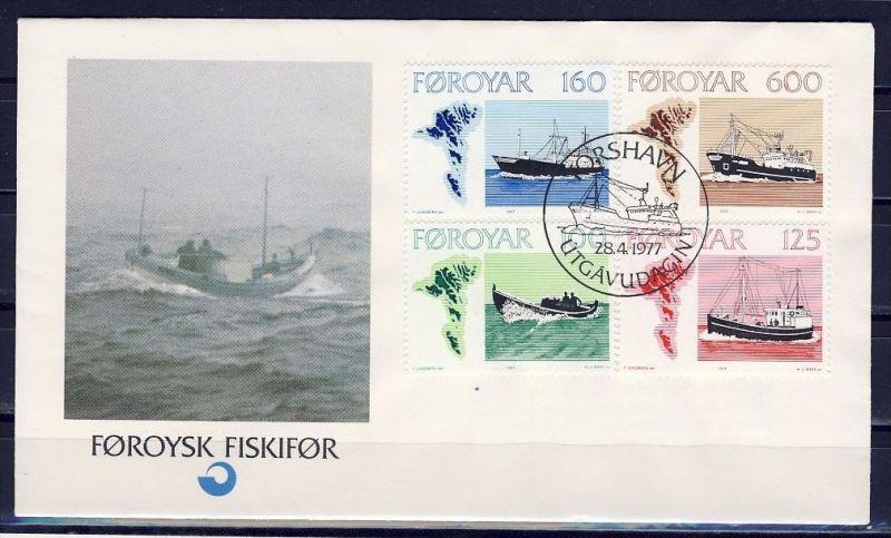 F0873)Faroer FDC 24/7 Schiffe