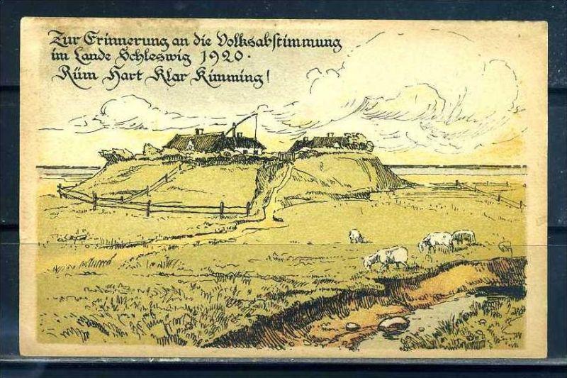 K10881)Ansichtskarte: Volksabstimmung Schleswig 1920