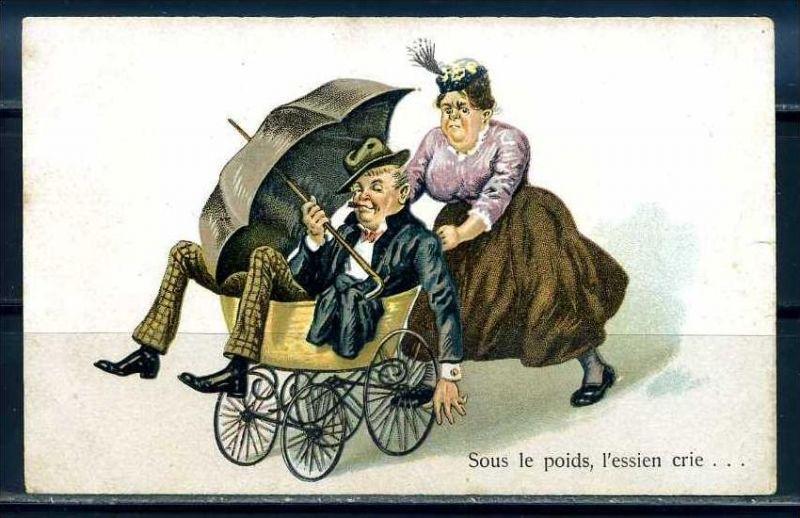 K10878)Ansichtskarte: Humorkarte Liebespaar