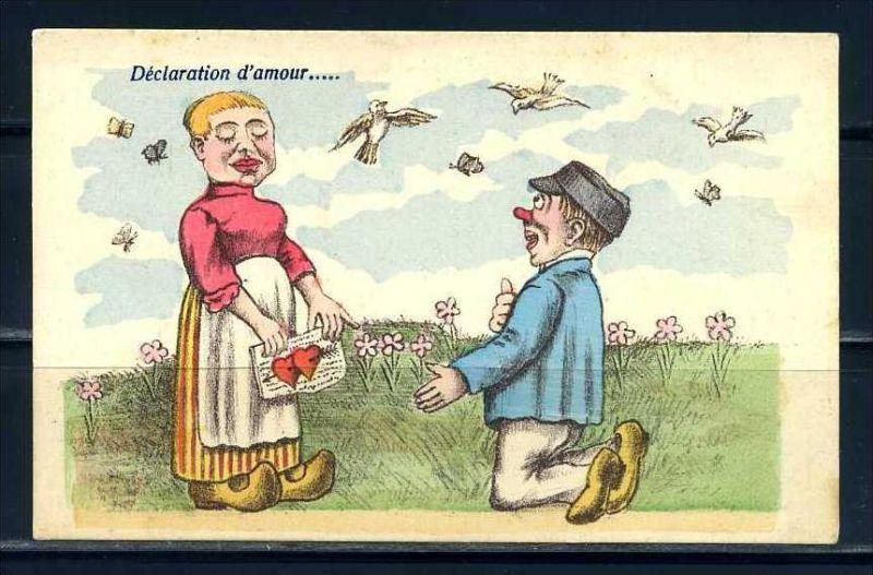 K10876)Ansichtskarte: Humorkarte Liebespaar
