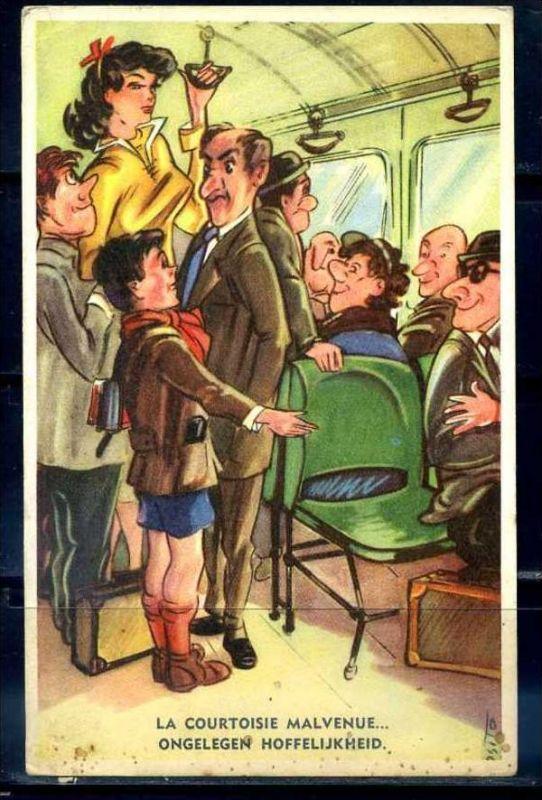 K10874)Ansichtskarte: Humorkarte Gentleman