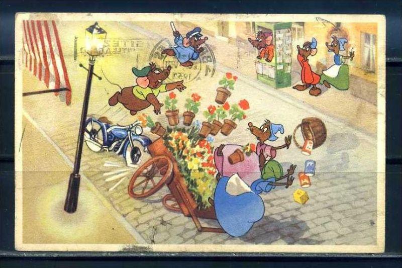 K10873)Ansichtskarte: Humorkarte Verkehrsunfall