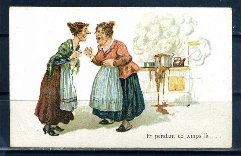K10872)Ansichtskarte: Humorkarte Frauengespräch