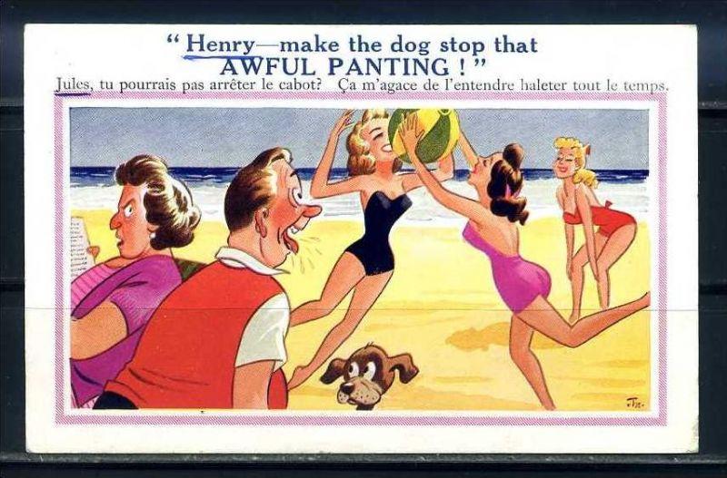 K10871)Ansichtskarte: Humorkarte Urlaub