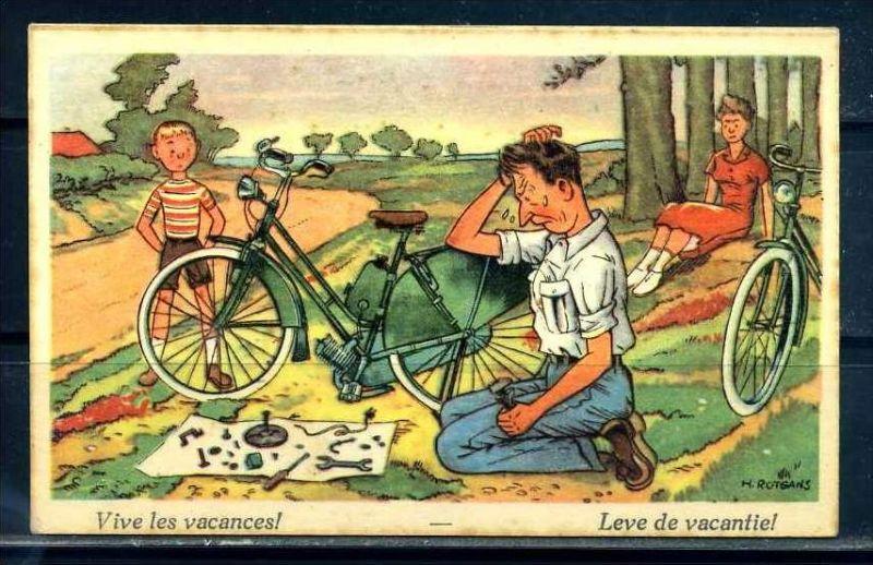 K10868)Ansichtskarte: Humorkarte Urlaub