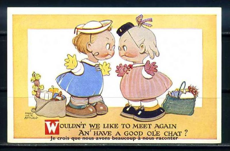 K10865)Ansichtskarte: Humorkarte Kinder