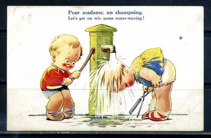 K10864)Ansichtskarte: Humorkarte Kinder