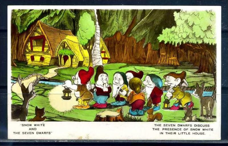 K10860)Ansichtskarte: Schneewittchen und die 7 Zwerge