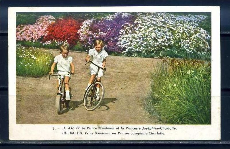 K10853)Ansichtskarte: Prinz Boudouin + Prinzessin Josephine-Charlotte