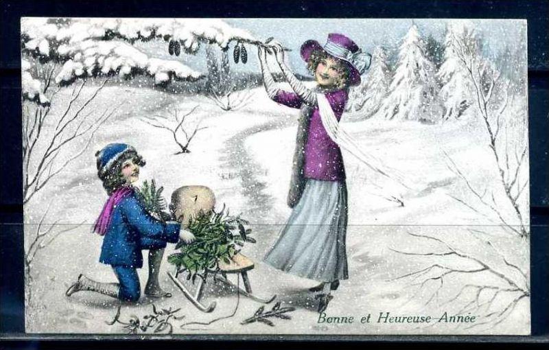 K10846)Grusskarte: Neujahr
