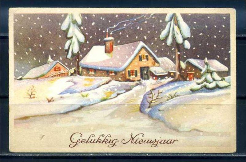 K10845)Grusskarte: Neujahr