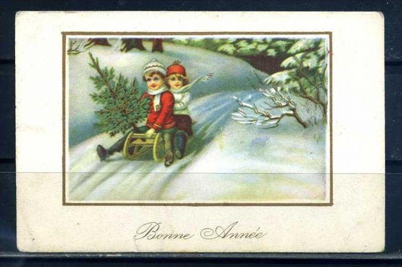 K10842)Grusskarte: Neujahr