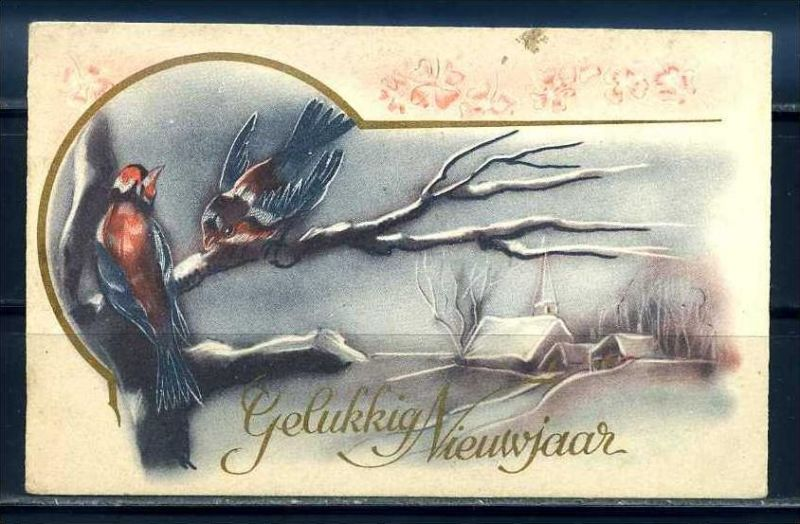 K10841)Grusskarte: Neujahr