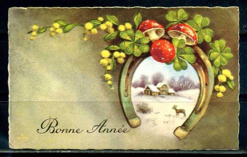 K10838)Grusskarte: Neujahr