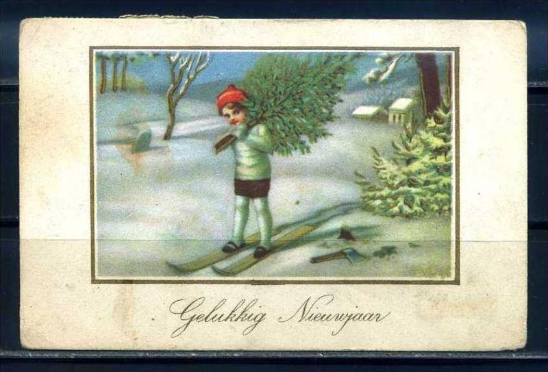 K10837)Grusskarte: Neujahr