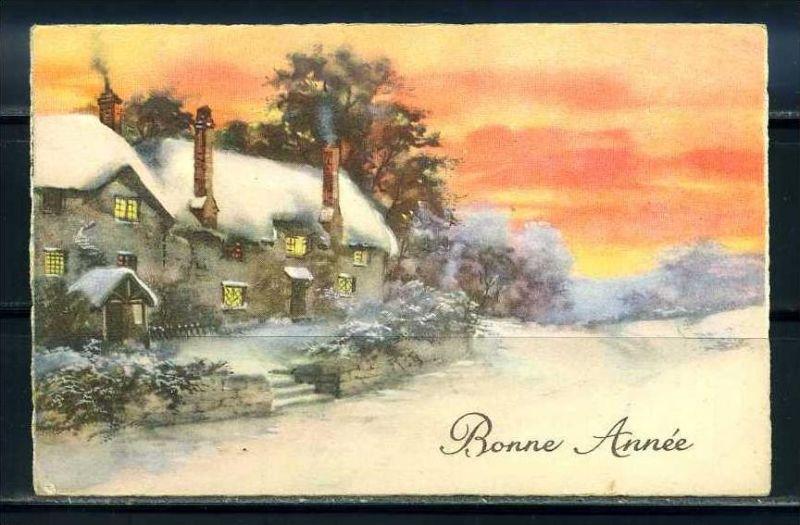 K10835)Grusskarte: Neujahr