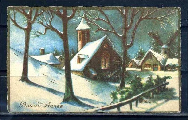 K10834)Grusskarte: Neujahr
