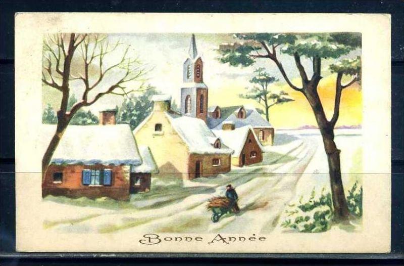 K10832)Grusskarte: Neujahr