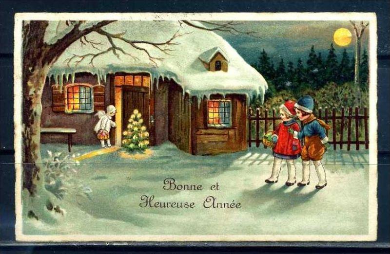 K10830)Grusskarte: Neujahr