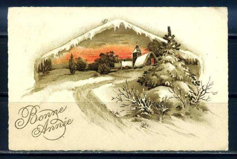 K10829)Grusskarte: Neujahr