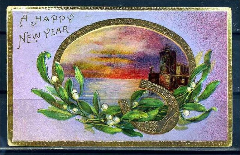 K10824)Grusskarte: Neujahr
