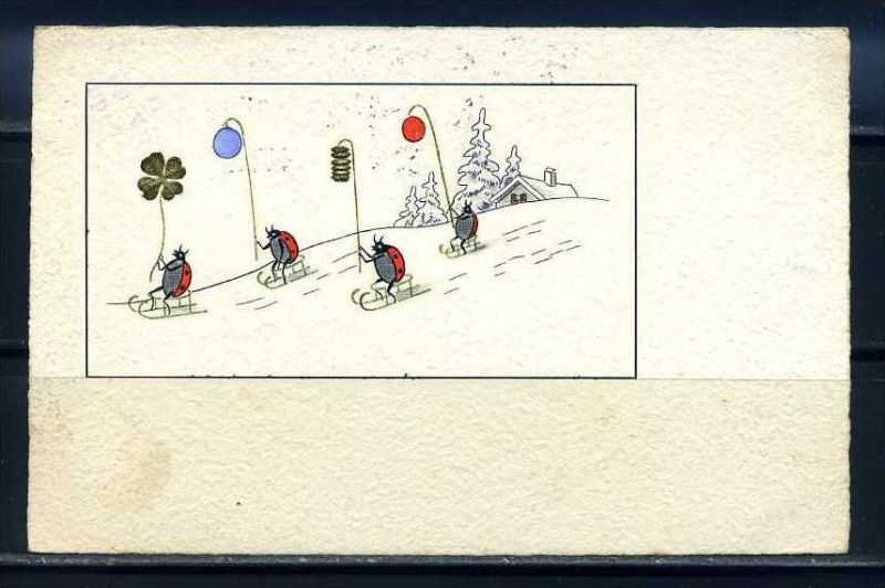 K10819)Grusskarte: Neujahr