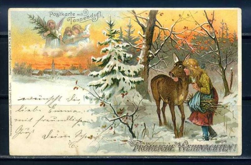 K10810)Grusskarte: Weihnachten