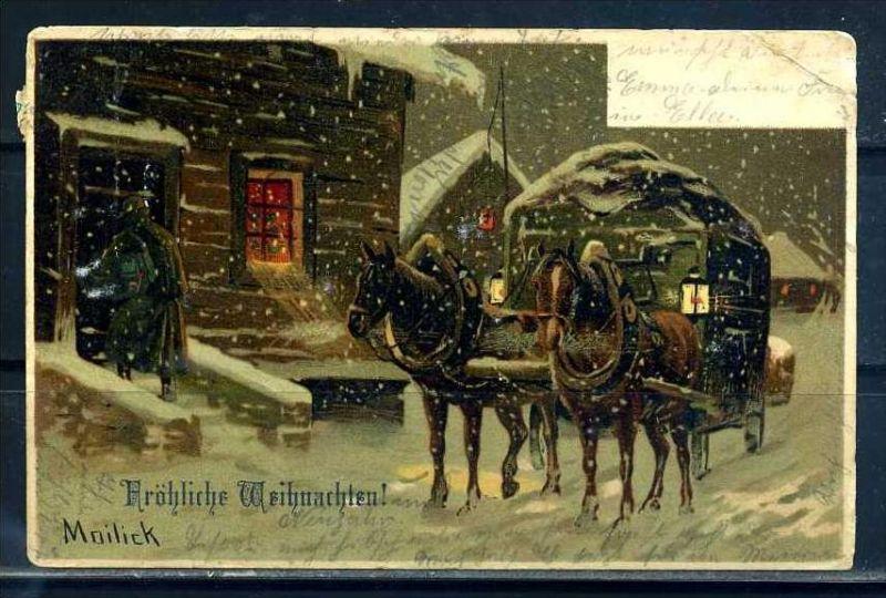 K10807)Grusskarte: Weihnachten