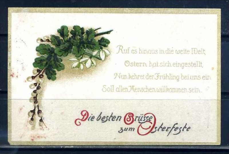K10805)Grusskarte: Ostern