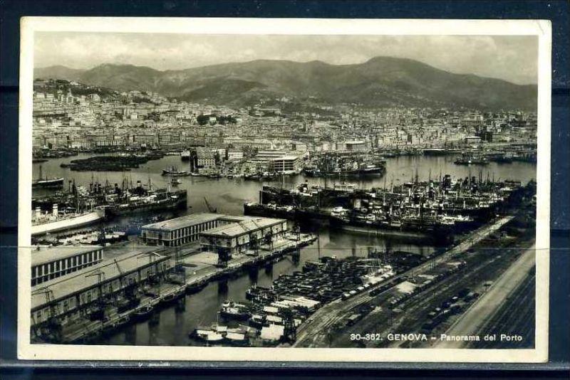 K10710)Ansichtskarte: Genua, Hafen