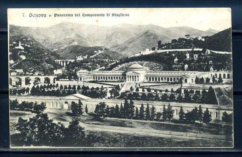 K10709)Ansichtskarte: Genua, Camposanto di Staglieno
