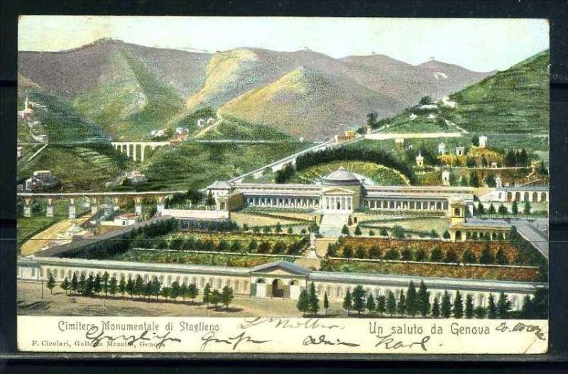 K10708)Ansichtskarte: Gruss aus Genua