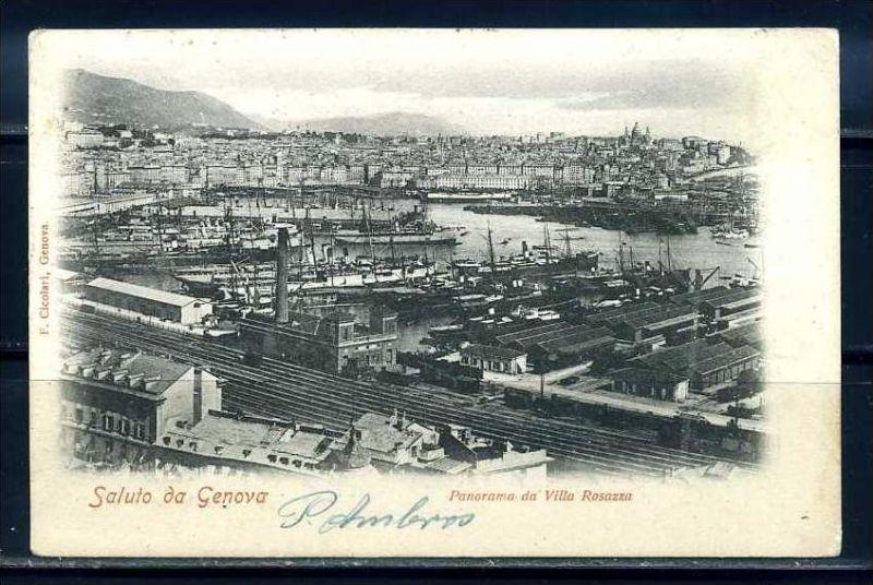 K10707)Ansichtskarte: Gruss aus Genua 1899