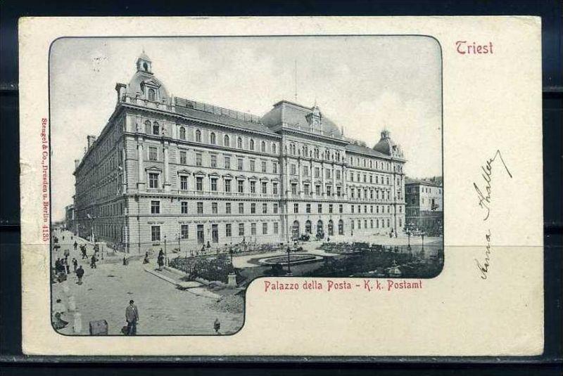 K10702)Ansichtskarte: Triest, Postamt