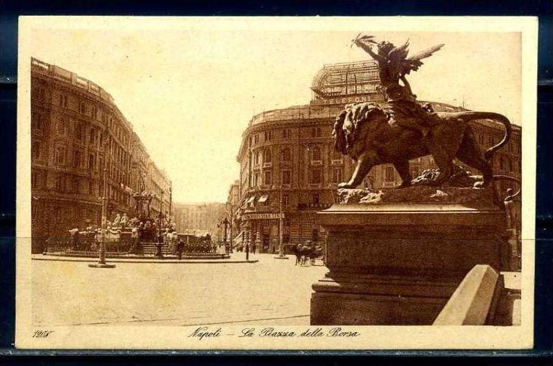 K10667)Ansichtskarte: Neapel, Piazza della Borsa